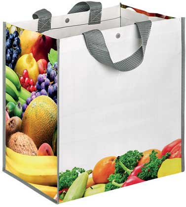 FRUITBOX BORSA SHOPPING CON SOFFIETTOCHIUSURA CON BOTTONE...