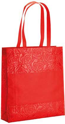 SHOPPER CON SOFFIETTO IN TNT TERMOSALDATO, MANICI 65 CM