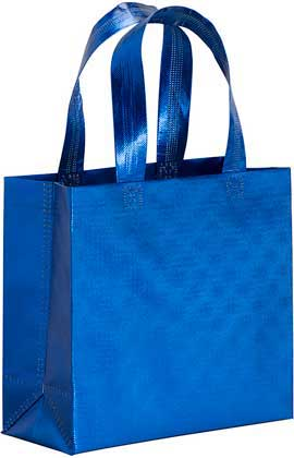 MINI SHOPPER, TNT LAMINATO METALLIZZATO M/CORTI (25X23X10)
